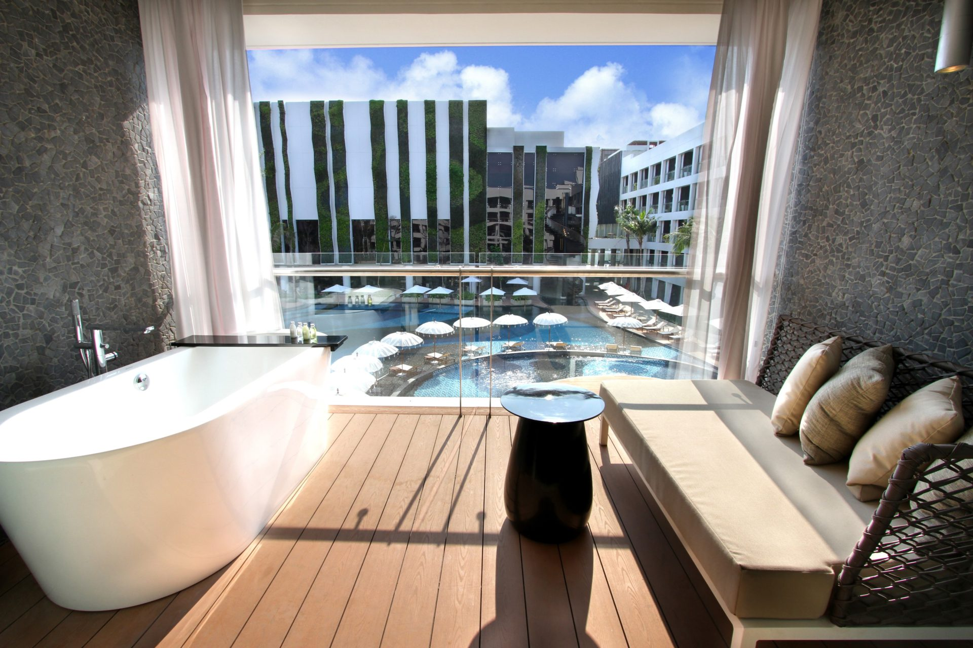 Deluxe Room Pool View 5 Star Hotel In Legian Bali The Stones Marriott Autograph Collection Hotel